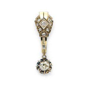 Antique Art Deco White Gold Diamond Pendant